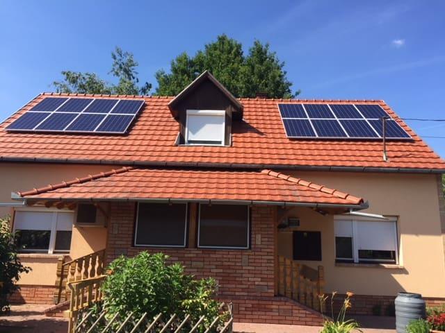 4,32 kWp Sharp napelemes rendszer, Fronius Symo inverter, Nagyér
