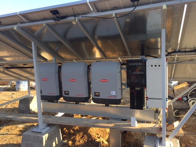 56,2 kWp Amerisolar, 2*17,5 + 1*15 kW Fronius inverter, Püspökszilágy