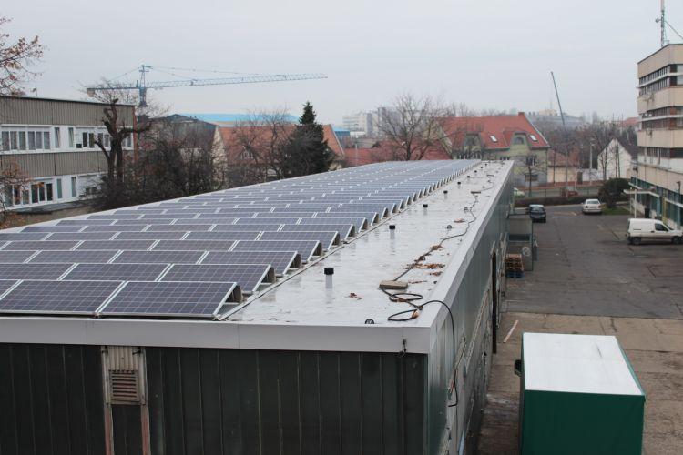 57,2 kWp Sharp napelemes rendszer, 2x SolarEdge SE25k inverter Budapest