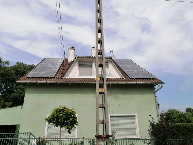 5,39 kWp Sharp napelemes rendszer SolarEdge inverterrel, Budapest