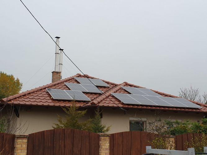 4,95 kWp Sharp napelemes rendszer SolarEdge inverterrel, Budapest